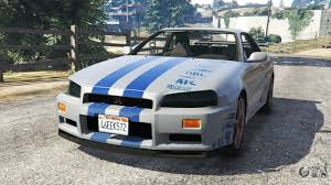 blue nissan skyline fast and furious nissan skyline r34 gt r 2002 fast and furious for gta 5