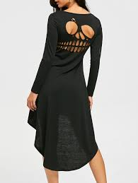Halloween Cut Outs Halloween Cut Out Skull High Low Dress In Black 2xl Sammydress Com