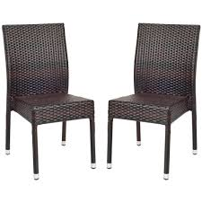 Patio Wicker Furniture - safavieh newbury tiger stripe aluminum frame patio wicker chair 2