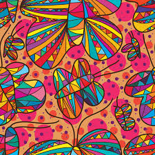 abstract pattern butterfly butterfly line drawing free seamless pattern stock vector