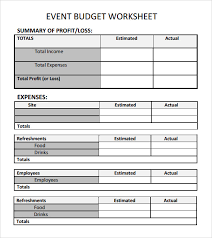 sample budget form free business income and expenditure budget