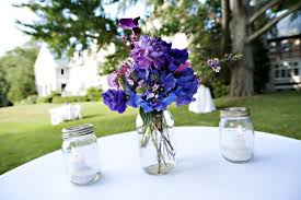 Mason Jar Centerpieces For Wedding 37 Trendy Purple Wedding Table Decorations