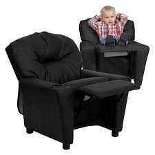 Toddler Recliner Chair Flash Furniture Recliner With Cup Holder Black Leather