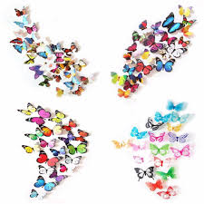 3d colorful butterfly wall stickers diy art decor crafts for 3d colorful butterfly wall stickers diy art decor crafts for nursery room classroom offices kids bedroom bathroom living room removable wall stickers