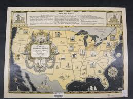 Map Of Illinois And Indiana by A Map Of Sinclair Lewis U0027 United States Map Library University