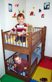 Small Bunk Bed In Oak  Via Etsy Boy And Girl Share - Kids bed bunks