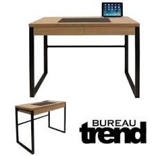 ego design bureau industriel trend bois et metal noir pas cher