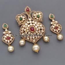 pachi work earrings pendant kundan jewellery search jewelery