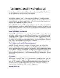 example of a medical assistant resume medical assistant resume