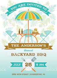 Beer Logo Patio Umbrellas Summer Patio Party Bbq Invitation Stock Vector Art 483348725 Istock