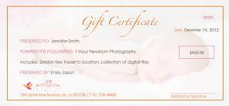 orange county christmas portrait photography gift certificates