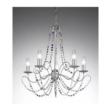 Crystal And Chrome Chandelier Voltolina Innsbruck Crystal Chandelier Chrome 505100ch 4c