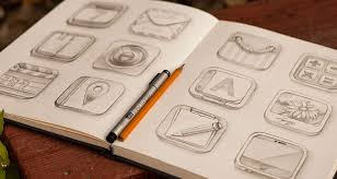 inspirational examples of icon sketching