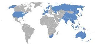 Thailand World Map by Thai Airways Destinations Wikipedia