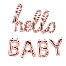 hello baby shower gold script hello baby shower party foil letter airfill only