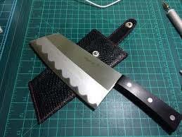 kitchen knives with sheaths leather kitchen knife sheath