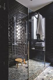 black and bathroom ideas black tiles in bathroom ideas tile floor and white wall remodel