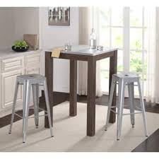 Zinc Bistro Table Square Bar Pub Tables For Less Overstock
