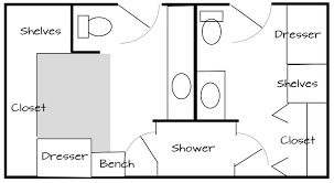 his and bathroom floor plans bath plans some site