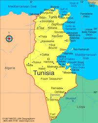 tunisia physical map map of tunisia