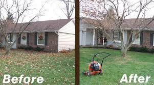 Backyard Renovations Before And After Lawn Landscaping Before And After Lafayette Indiana Green Care