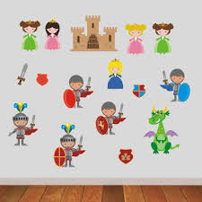 knights and princesses wall stickers u2013 mirrorin