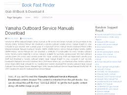 41 yamaha outboard service manuals download
