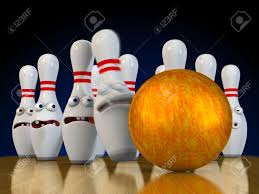 halloween pins ten pin bowling pins ready to be bowled over bracing for impact