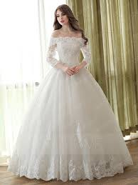 lace 3 4 sleeve wedding dress the shoulder gown 3 4 length sleeves lace wedding dress