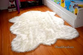 Faux Fur Sheepskin Rug How To Paint Faux Sheep Skin Rug For Home Goods Rugs Dining Room