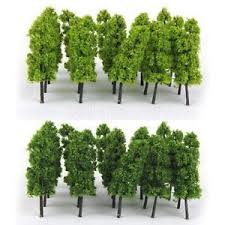 20 light green tree model railway wargame diorama