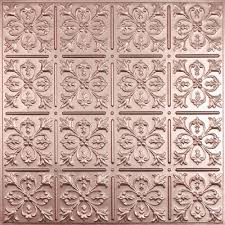 ceilume fleur lis faux copper 2 ft x 2 ft lay in or glue up