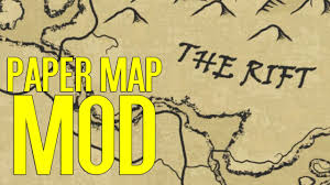 World Map Cartoon by A Quality World Map Paper Skyrim Special Edition Mod Spotlight