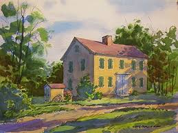 Barnhouse by Painting The Frostville Barnhouse Watercolorpainting Com