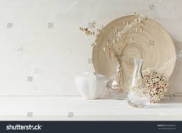 soft home decor glass vase spikelets stock photo 502283065