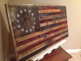 Reclaimed Wood Home Decor Reclaimed Wood American Flaghandmade Wood Flagrustic Home