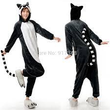 Animal Halloween Costumes Men Novelty Animal Lemur Long Tail Monkey Onesie Women Men
