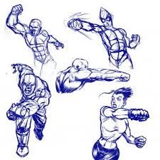 how to draw action poses step by step anatomy people free
