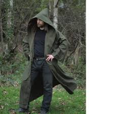 druidic robes druid cloak ranger robe moss green larp like outerwear