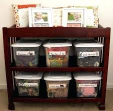 Changing Table Organization Changing Table With Shelves Change Table With Drawer Wooden