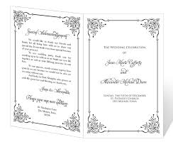 Templates For Wedding Programs Sample Event Program Template