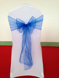 royal blue chair sashes royal blue organza chair sash in sashes from home garden on