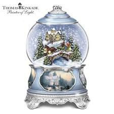 kinkade jingle bells musical snowglobe