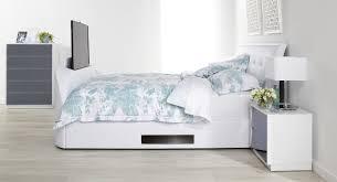 Tv Storage Bed Frame Accent Tv Bed Bedroom Furniture Bedroom Storage Solutions