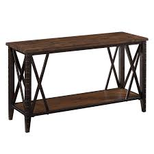 Expandable Console Table Magnussen Fleming Wood And Metal Sofa Table Rustic Pine Finish