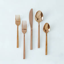 Design For Copper Flatware Ideas Arezzo Flatware Set Flatware Dinnerware Flatware Fortessa