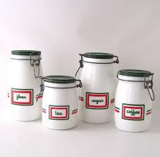 vintage kitchen canister set milk glass milkglass coffee tea sugar