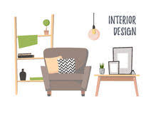 home interior vector vector illustration of a cozy interior of a home room a