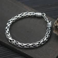 mens silver bracelet chain images Men 39 s sterling silver bold rope chain bracelet jpg