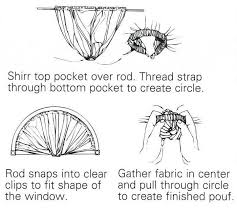 How To Hang Drapes How To Hang Curtains On A Circle Top Half Window Curtain Styles